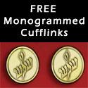 Free Monogrammed Cufflinks